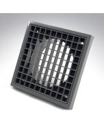 4 Inch Fixed Grille Grey