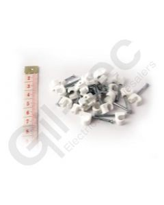 Cable Clip Round 5-7mm White - Box of 100
