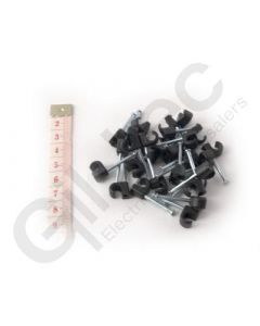 Cable Clip Round 5-7mm Black - Box of 100