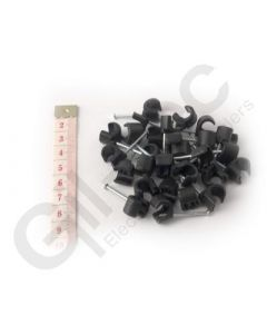 Cable Clip Round 7-10mm Black - Box of 100