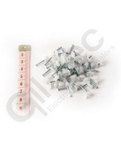 Cable Clip Flat 2x4mm Clear - Box of 100