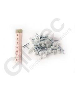 Cable Clip Flat 3x5mm Clear - Box of 100