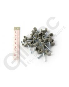 Cable Clip Flat 5x8mm Grey - Box of 100