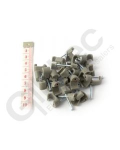 Cable Clip Flat 6x10mm Grey - Box of 100