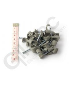 Cable Clip Flat 7x14mm Grey - Box of 100