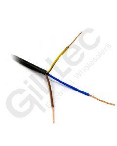 3 Core PVC Flex 1.0mm Black 100m