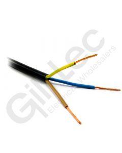 3 Core PVC Flex 1.5mm Black 100m