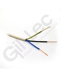 3 Core PVC Flex 1.5mm White 50m