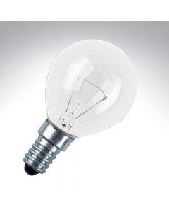 Round Bulb 25W Small Screw Cap Clear