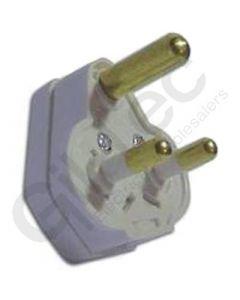 Round 3 Pin 5A Plug Top