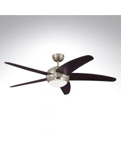 5 Blade Ceiling Fan 72557 Bendan Satin Chrome