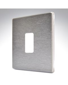 Hartland Screwless Satin Steel 1 Gang Grid Plate