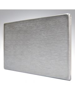 Hartland Screwless Satin Steel Blank Plate Double