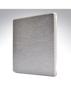 Hartland Screwless Satin Steel Blank Plate Single