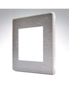 Hartland Screwless Satin Steel 2 Gang Modular Plate