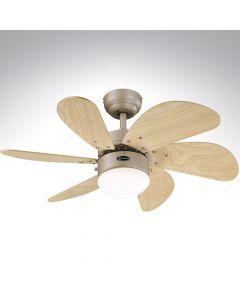 6 Blade Ceiling Fan 78158 Turbo Swirl Titanium