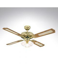 4 Blade Ceiling Fan 78171 Fanaway Polished Brass
