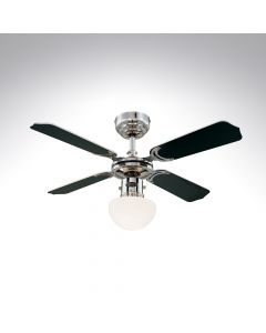 4 Blade Ceiling Fan 78321 Portland Ambiance Chrome