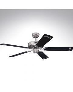 5 Blade Ceiling Fan 78370 Cyclone Brushed Steel