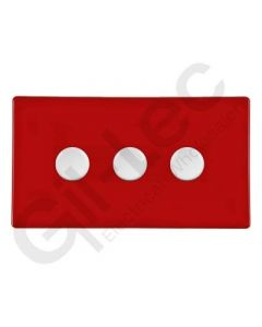 Hartland CFX Red Push Dimmer 3 Gang 2 Way 400W