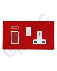 Hartland CFX Red 45a Double Pole Sw+Neon+13a Socket