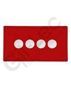 Hartland CFX Red Push Dimmer 4 Gang 2 Way 300W