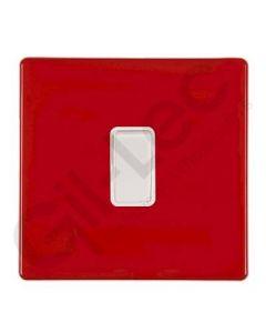 Hartland CFX Red Light Switch 1 Gang 2 Way 10a