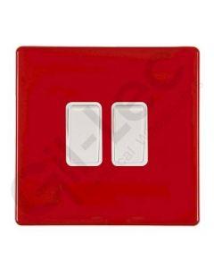 Hartland CFX Red Light Switch 2 Gang 2 Way 10a