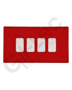 Hartland CFX Red Light Switch 4 Gang 2 Way 10a