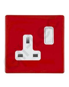 Hartland CFX Red  Switched Socket 1 Gang 13a