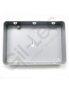 MK Grid Flush Aluminium Box 9-12 Gang + Knockout
