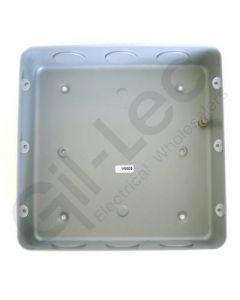 MK Grid Flush Aluminium Box 18 Gang + Knockout