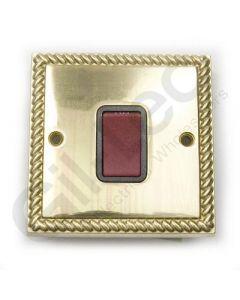 Polished Brass 45A Switch 1 Gang