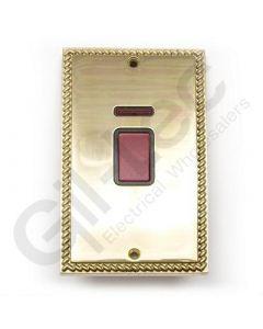 Polished Brass 45A Switch + Neon Big Plate
