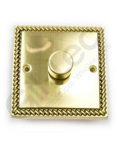 Polished Brass Dimmer Switch 1 Gang 600W