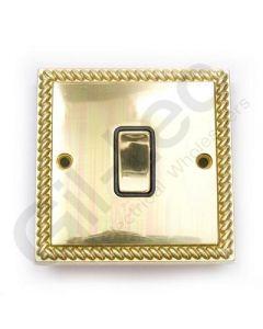 Polished Brass Switch 1 Gang 10A