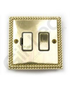 Polished Brass Switched Connection Unit 13A