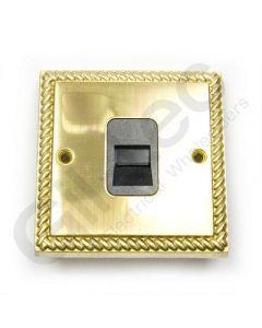 Polished Brass Telephone Slave Socket