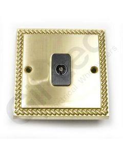 Polished Brass TV Socket