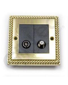 Polished Brass Satellite Socket