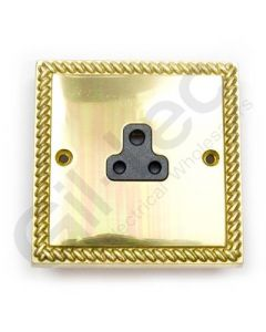 Polished Brass Unswitched 5A Socket