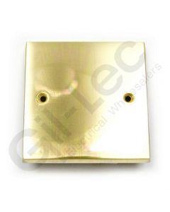 Polished Brass Single Blank Plate