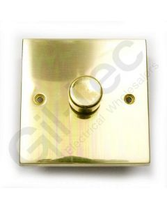 Polished Brass Dimmer Switch 1 Gang 400W