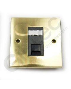 Polished Brass RJ45 Socket 1 Gang