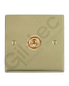 Polished Brass Dolly Switch 1 Gang 10A
