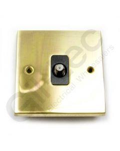 Polished Brass Satellite Socket Isolated