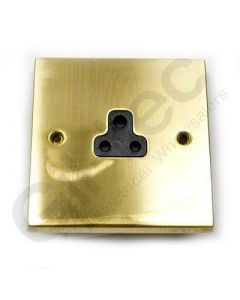 Polished Brass Unswitched 2A Socket