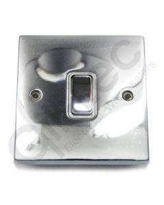 Polished Chrome Light Switch 1 Gang 10A