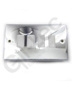 Polished Chrome Light Switch 4 Gang 10A