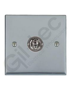 Polished Chrome Dolly Switch 1 Gang 10A